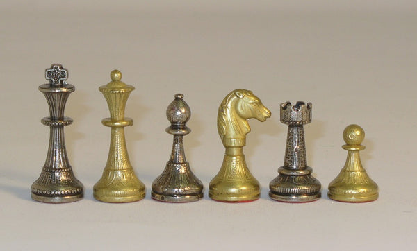 Small Staunton Metal Men - ChessWarehouse - 1