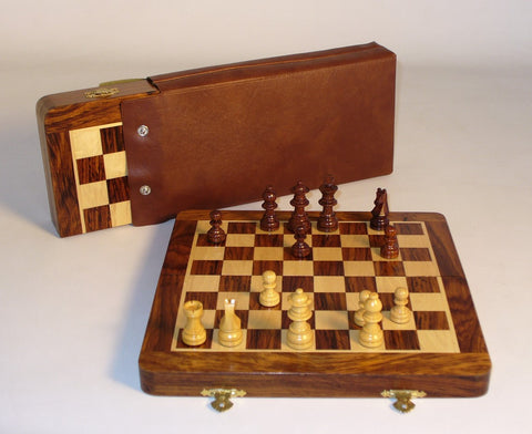 "10"" Folding Wood Magnetic Chess - ChessWarehouse"