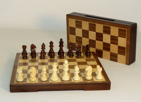 "12"" Folding Wood Chess Set - ChessWarehouse"