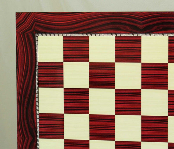 Red Grain Decoupage Chess Board - ChessWarehouse