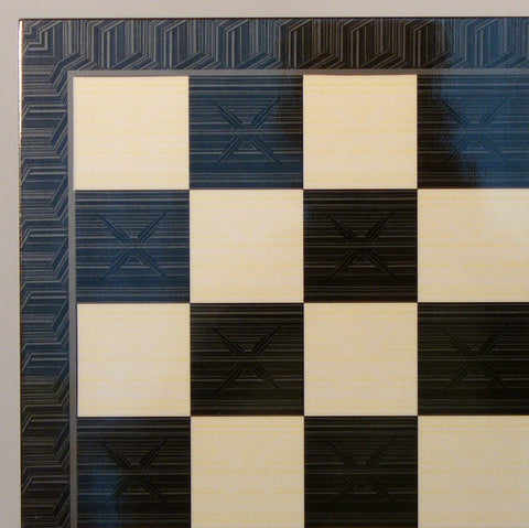 Black Geometric Decoupage Board - ChessWarehouse - 1