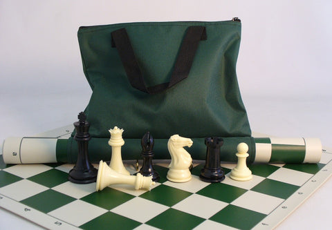 "4"" King Roll Up Tournament Set (Optional Carrying Case) - ChessWarehouse - 1"