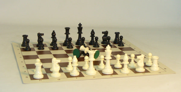 Tournament Men with Brown Mat - ChessWarehouse