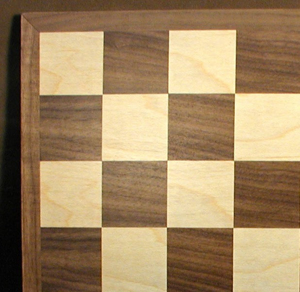 "12"" Walnut & Maple Veneer Board - ChessWarehouse - 1"