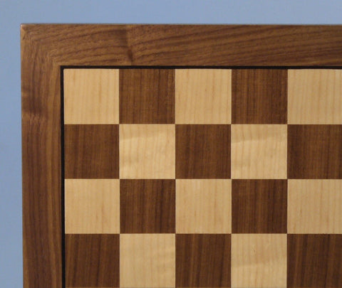 "14"" Walnut & Maple veneer Brd - ChessWarehouse"