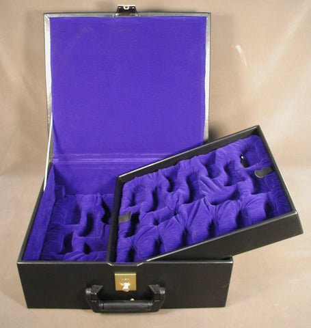 Deluxe Black Vinyl Chess Box - ChessWarehouse