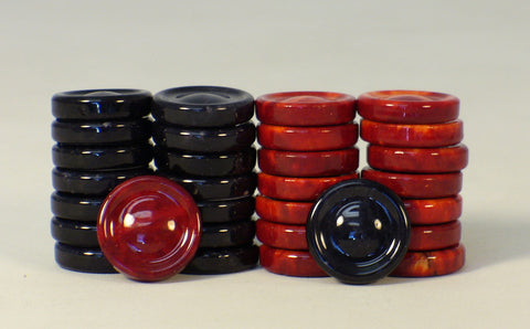 Black & Red Alabaster Checkers - ChessWarehouse