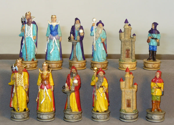 Sorcerer Resin Themed Chessmen - ChessWarehouse