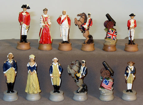 American Revolution Chessmen - ChessWarehouse - 1