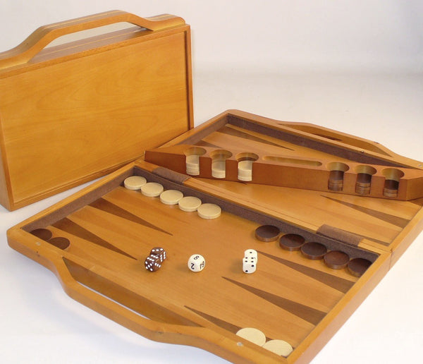 Wood Attache Backgammon - ChessWarehouse