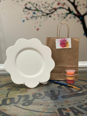 Flower Plate - Paint at home kit
