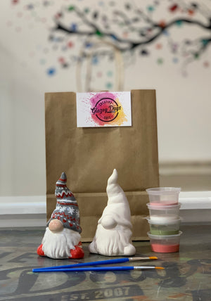 Christmas gnome - Paint at  Home Kit