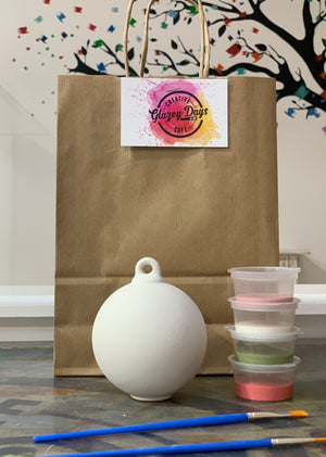 Free standing bauble- Paint at home kit