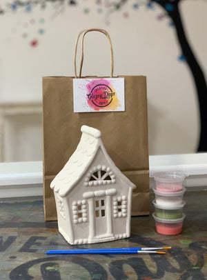 Gingerbread house lantern - Paint at home kit