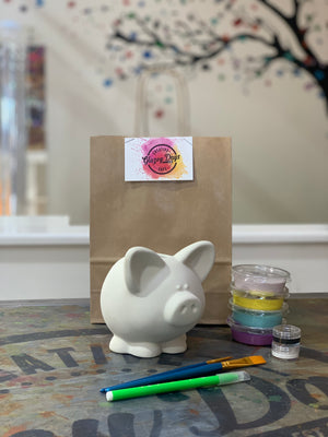 Piggy Bank -Paint at Home Kit