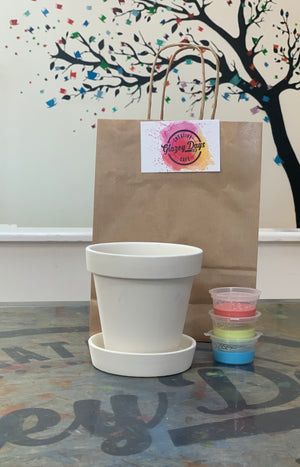 Small plant pot- Paint at  Home Kit