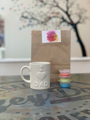 I Love Dad mug -paint at Home Kit
