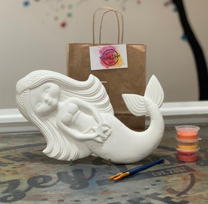 Mermaid Large Wall Hanger- Paint at home kit