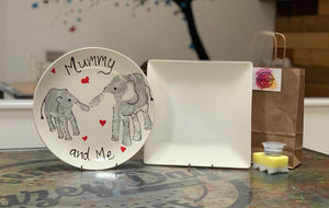 Mummy & Me Design - Round Plate - Paint at home kit