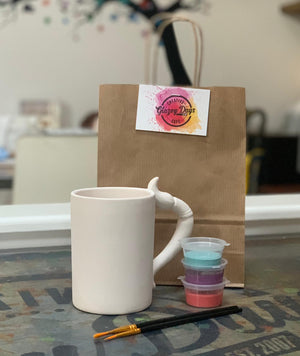 Paintbrush Mug- Paint at home kit