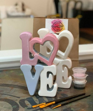 LOVE Standing Plaque- Paint at home kit