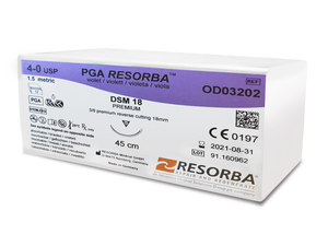 PGA Resorba™ braided (absorbable) sutures