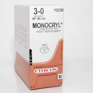 MONOCRYL Ethicon (non-absorbable) sutures