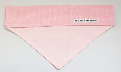 Bandana - pink/light pink with white polka dots