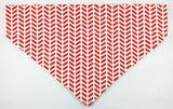Bandana - red/white patterns with chicken wings