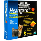 Heartgard Plus Chewables for Small Dog 6 pack