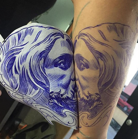 Image result for tattoo stencil