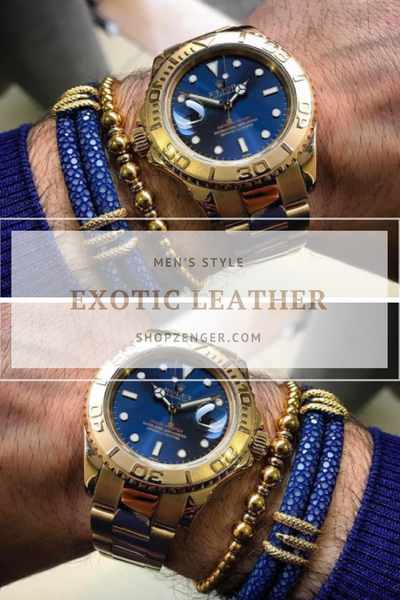 Achieve Luxury Style with Exotic Leather Bracelets for Men
