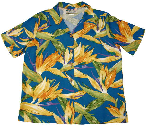 Women's Birds of Paradise Hawaiian Shirt - Twisted Palms Trading Company Online Beach Shop