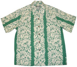 Aqua Classic Hibiscus Rayon Hawaiian Shirt - Twisted Palms Trading Co.