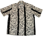 Black Classic Hibiscus Rayon Hawaiian Shirt - Twisted Palms Trading Co.