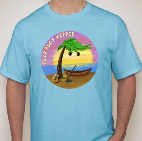 Flip Flop Hippie T-Shirt - Twisted Palms Trading Co. Tiki Decor & Island Style Apparel