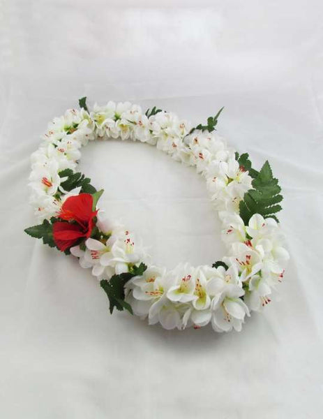 White Shell Ginger Flower Silk Lei