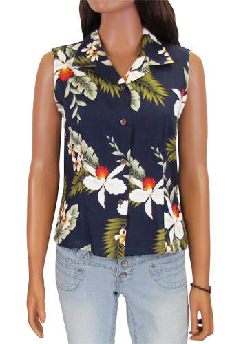 Hanapepe Aloha Sleeveless Blouse - Twisted Palms Trading Co. Tiki Decor & Island Style Apparel