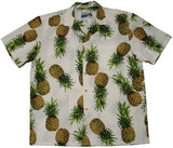 Paradise Found Pineapple Maui Men's Hawaiian Shirt White - Twisted Palms Trading Company Online Beach Shop