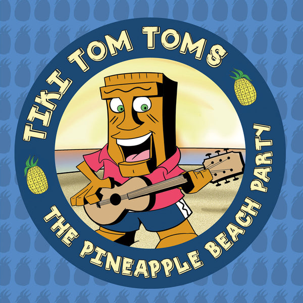 Tiki Tom Toms & The Pineapple Beach Party Blue Album - Twisted Palms Trading Company Online Beach Shop