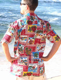 Hawaii Tapa Christmas Shirt Red Back - Twisted Palms Trading Co.