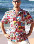 Hawaii Tapa Christmas Shirt Red Front - Twisted Palms Trading Co.