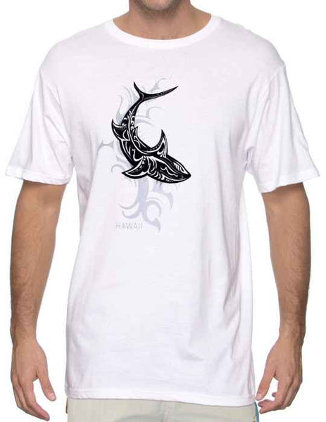 Tribal Shark Hawaiian Ocean T-Shirt - Twisted Palms Trading Company Online Beach Shop