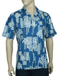Aloha Shirt Pacific Honu - Blue