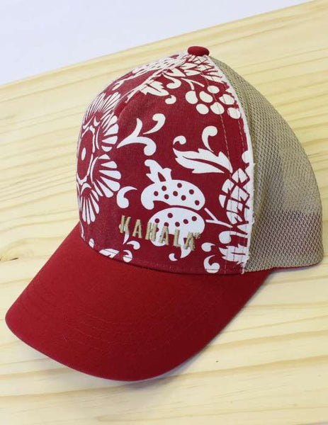 Red Mesh Duke's Pareo Kahala Cap