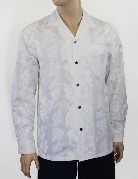 White Hawaii Wedding Long Sleeve Shirt