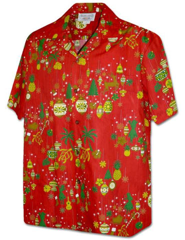Aloha Christmas Hawaiian Shirt Firecracker - Twisted Palms Trading Company Online Beach Shop