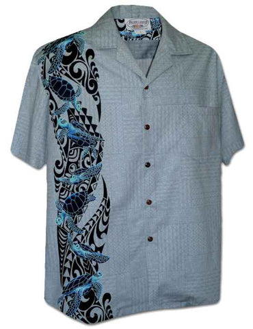 Men's Slate South Pacific Honu Hawaiian Side Board Hawaiian Shirt