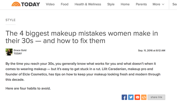TODAY - LILIT CARADANIAN TIPS: The 4 biggest makeup mistakes women make in their 30s — and how to fix them