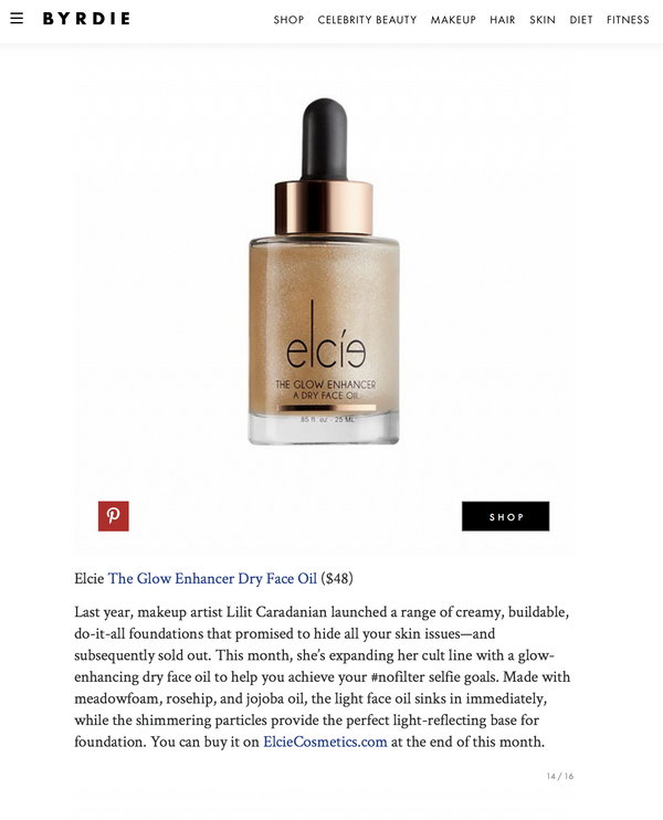 BYRDIE Names Elcie 'The Glow Enhancer' a Beauty Product to Obsess Over
